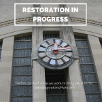 Cincinnati union terminal, art deco clock - Grand Inspirations - restoration in progress
